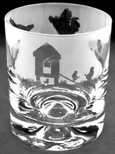 More details for chickens frieze boxed 30cl glass whisky tumbler