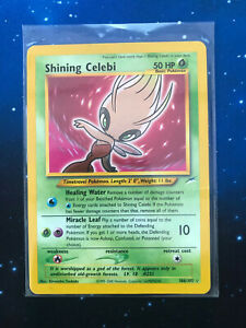 Neo Destiny Shining Celebi Triple Star Secret Rare Holo Original Pokemon Card -