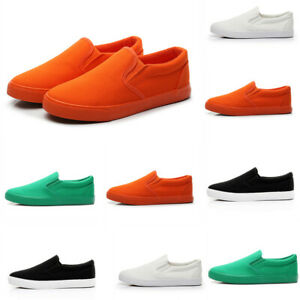 Chic Men Pumps Colorful Canvas Slip On Outdoor Loafers Casual Driving Shoes Hot