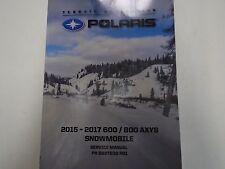 2015 2016 2017 Polaris 600 800 AXYS Snowmobile Service Repair Repair Manual NEW