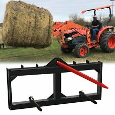 """Skid Steer 49"""" Hay Bale Spear Spike Round Bale Spear Mover Quick Attachment"""