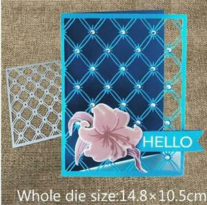 Metal Cutting Dies Edgeless rectangle diamond background scrapbooking Album Die