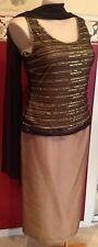 Laura k mother of the bride Size 16 Skirt Set Beaded Singlet With Scarf