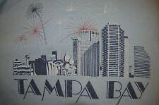 Tampa Bay Florida Vaporwave Firework Beach Hippy 2XL 3XL T-Shirt USA VTG 80s 90s