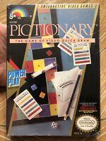 Pictionary (Nintendo Entertainment System, 1990) NES Sealed, Brand New, WATA