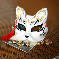 Half Face Babymetal Kitsune Hand-painted Fox Mask Halloween Costume Ball Party