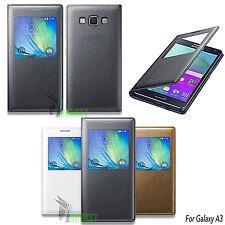 Custodia Flip Cover S VIEW Slim Per Samsung Galaxy A3 2014 SM-A300FU + Pellicola
