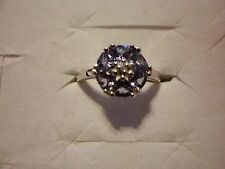 AA Tanzanite & Diamond Accent Ring in 925 Sterling Silver-Size 7-1.32 Carats