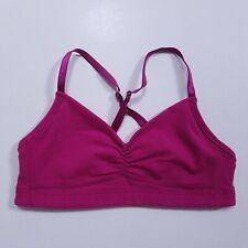Lululemon Pink Magenta Sports Bra Size 4 XS Racerback Athletic