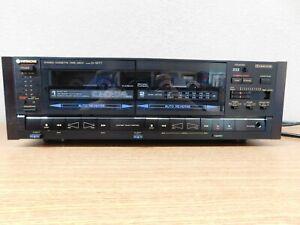 Hitachi Model D-W77 Dual Cassette Deck Vintage Super Rare Hard To Find