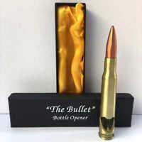 50 Cal Caliber Bullet Bottle Opener .50 Metal Shell Gun Ammo Gift Box