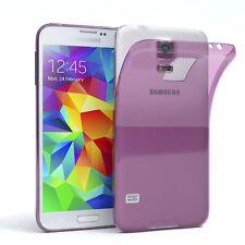 Ultra Slim Cover für Galaxy S5 / Neo  Case Silikon Hülle Transparent Lila