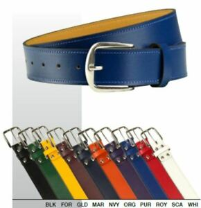 "Champro Real Leather Baseball / Softball Belt 28"" to 50"" Waist in 10 Colors A063"