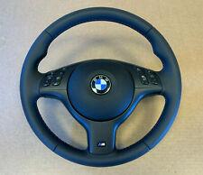 BMW 3 5 7 X5 E46 E39 E38 E53 GENUINE M Sport Steering Wheel Nappa Leather Airbag