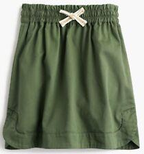 NEW Crewcuts Pull-On Chino Skirt Girls' Sz. 4/5 Classic Green Twill J.Crew NWT