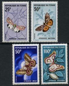 Chad: 1968 Moths (159-162) MNH