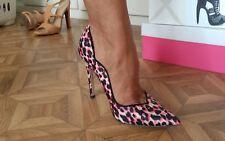 Escarpins leopard pink Asos high heels sexy peep toe design Gianmarco lorenzi