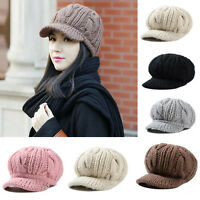 Women Winter Warm Knit Crochet Slouch Baggy Beanie Hat Crochet Ski Cap Beret USA