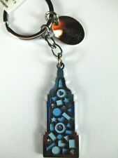 New York Key Chain, Empire, Chrysler, Liberty, 3 7/8in Metal Keyring