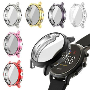 Screen Protector TPU Watch Case Plating Watch Cover For Fossil Gen 5 Carlyle