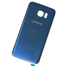 For Samsung Galaxy S7 Edge Back Glass Rear Battery Cover - Coral Blue