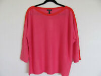 Eileen Fisher Bateau Neck Top- Organic Linen-Cherry Lane Pink-Size 1X -NWT $208