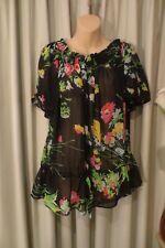 VINTAGE Style ~ SUSSAN ~ Floral Peasant BLOUSE/TOP ~ Size 12  *
