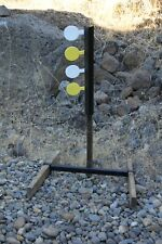 "Rimfire Dueling Tree Target Four 3.75"" Paddles (1/4"" AR500 Steel)"