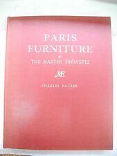 Paris Furniture – Ebenistes – Master Cabinet Makers – Packer 1956