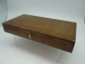 Vintage Shallow Oak Collectors or Trinket Box