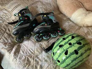 Inline skates mit Helm, Inliner Für Mädchen
