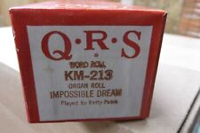 Qrs Kimball Electramatic Player Organ Roll Imopssible Dream Nos Rare Km -213