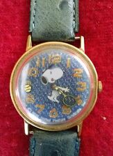 Vintage Snoopy 1958 Tennis United Feature Syndicate Hand Wind Wristwatch-Works