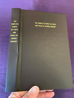 The Complete Works  In Prose And Verse of George Herbert 2013. Reprint Worthies