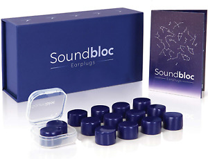 Ear Plugs for Sleeping by Soundbloc - 1 Year Supply 6 Pairs - Custom Fit Noise -