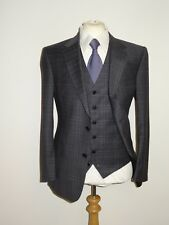 EDE & RAVENSCROFT  GREY 3 PIECE WOOL & CASHMERE SUIT - 46 Reg W40 L36  BRAND NEW