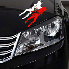 New White&Red Angel Devil Beauty Car Stickers 14cm*8cm Super Cool Car Decal li