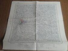 ANTICA MAPPA DI CREMONA - cm 50 X 48 - SCALA 1:100.000 - MAPPA  DEL 1935