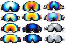 Twin Pack Ski Goggles Matching Adult and Kid Set Anti Fog Dual Lens UV400