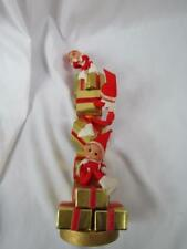 Vintage Pixie Three Elves (3) On Stacks of Gold Gifts 13""