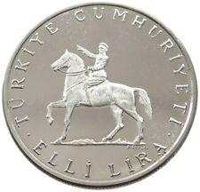 TURKEY 50 LIRA 1972 PROOF #alb49 025