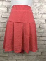 Torrid Coral Pink Textured Pleated Mini Flare Skirt Plus Size 16