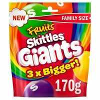 3x Skittles Giants Fruit Sweets Pouch 170 g