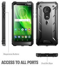 Poetic Revolution Case Built-in-Screen Protector for Moto G6 Play/G6 Forge Black