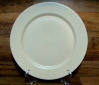 """LIBBEY - SPECKLED OATMEAL TAN - 10 1/2"""" DINNER PLATES - NEW"""