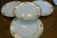 4 Vintage Noritake VASONA Dinner Plates Gold EXCELLENT CONDITION FREE US SHIP