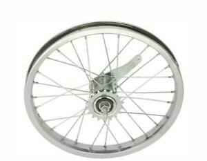 "BICYCLE REAR WHEEL 16"" x 1.75 STEEL COASTER CRUISER LOWRIDER BMX CYCLING BIKE"