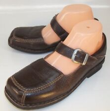 World Blend Womens EU 38 Brown Leather Buckle Mary Jane Casual Shoes