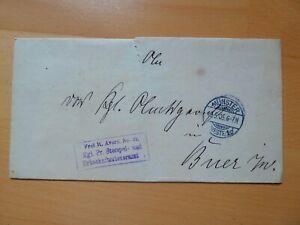 DR-Brief 1905 Stempel MÜNSTER nach BUER - FREI LT. AVERS NR. 21  1020