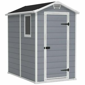 Keter Apex Garden Waterproof Plastic Shed Comes With Base - 10 Year Warranty 6x4
